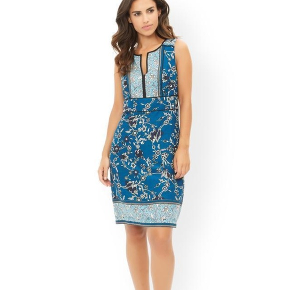 Monsoon Dresses | Jocelyn Floral Dress Blue 10 Sleeveless | Poshmark